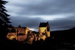 城堡larochette medevial的卢森堡 免版税库存图片