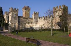 城堡lazise 免版税图库摄影