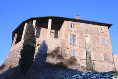 城堡levizzano 库存图片