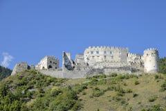 城堡Lichtenberg,南提洛尔,意大利废墟  库存照片