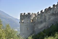 城堡Lichtenberg,南提洛尔,意大利废墟  图库摄影