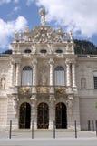 城堡linderhof 免版税库存图片