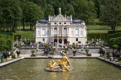 城堡linderhof 库存图片