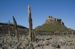 城堡lindisfarne 图库摄影