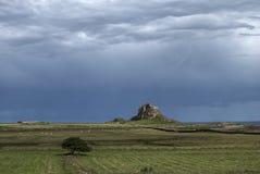 城堡lindisfarne 免版税库存图片
