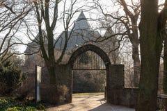 城堡linn克雷菲尔德德国 免版税图库摄影