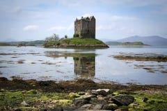 城堡linnhe海湾苏格兰潜随猎物者 库存图片