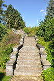 城堡Lnare,庭院台阶 库存照片