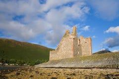 城堡lochranza 库存图片
