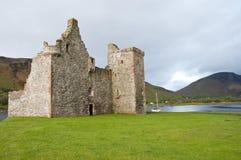 城堡lochranza 免版税库存图片