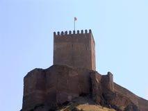 城堡lorca西班牙 库存图片