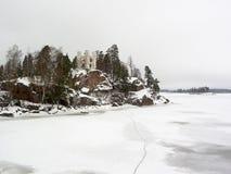 城堡ludvigstein冬天 库存图片