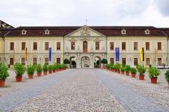城堡Ludwigsburg入口在德国 库存图片