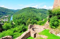 城堡luetzelburg 免版税图库摄影
