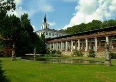 城堡Lysice捷克 库存图片