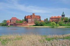 城堡malbork博洛尼亚pomerania 库存照片