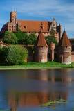城堡malbork反映 免版税库存图片