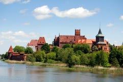 城堡malbork波兰 库存照片