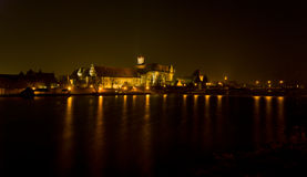 城堡Malbork 库存图片
