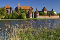 城堡malbork 免版税库存图片