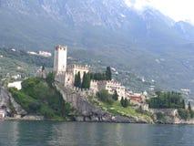 城堡Malchesine 免版税库存照片
