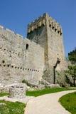 城堡manasija 库存图片