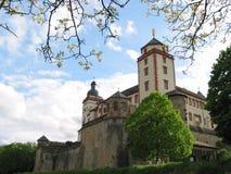 城堡marienberg维尔茨堡 免版税图库摄影
