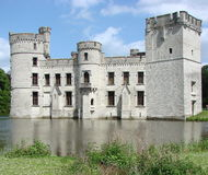 城堡meise水 免版税图库摄影