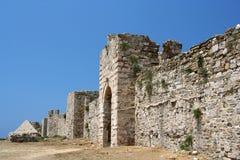 城堡methoni 图库摄影