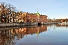 城堡mikhailovsky彼得斯堡st 库存图片