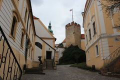 城堡Mikulov,捷克 免版税库存图片