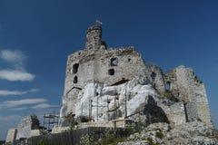 城堡Mirów 免版税图库摄影