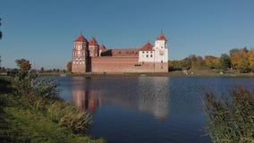 城堡Mir复杂历史白俄罗斯 影视素材