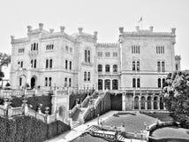 城堡miramare 免版税库存照片