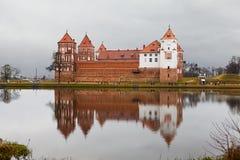 城堡mirski 库存图片