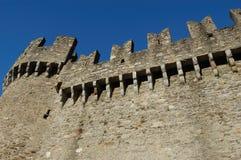 城堡montebello 库存图片