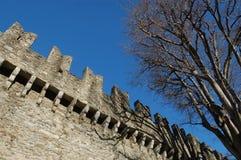 城堡montebello 免版税库存照片