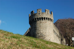 城堡montebello 图库摄影