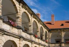城堡moravska trebova 免版税库存照片
