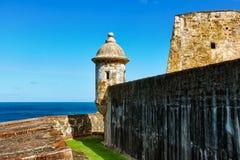 城堡morro 库存图片
