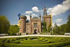 城堡moyland 免版税库存图片