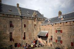 城堡Muiderslot在村庄Muiden在荷兰,荷兰,欧洲 免版税图库摄影