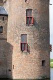 城堡Muiderslot在村庄Muiden在荷兰,荷兰,欧洲 库存照片