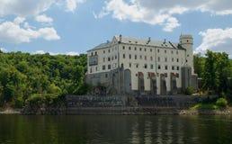 城堡nad orlik vltavou 库存照片