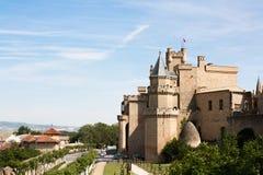 城堡navarra olite s 免版税库存照片