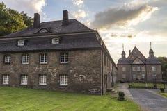 城堡neuenhof德国nrw 免版税库存照片