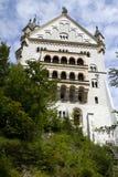 城堡neuschwanstein侧面墙 免版税库存图片
