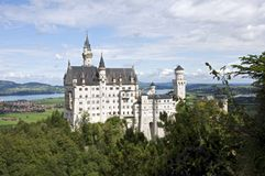城堡neuschwanstein 图库摄影