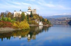 城堡niedzica波兰 免版税库存图片