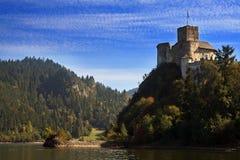 城堡niedzica波兰 库存照片